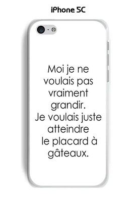 Coque tpu gel souple apple iphone 5c design citation