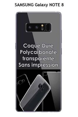 Coque samsung galaxy note 8 transparente (coque dure)