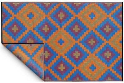 Tapis de salon Fabhabitat Tapis intérieur extérieur saman orange et ...