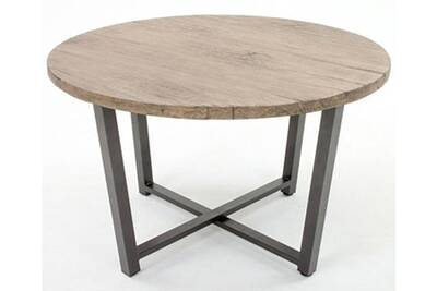 Table de jardin Pegane Table ronde en aluminium coloris anthracite ...