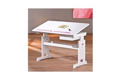 Bureau maisonetstyles bureau multifonction 109x64 90x55 cm blanc et