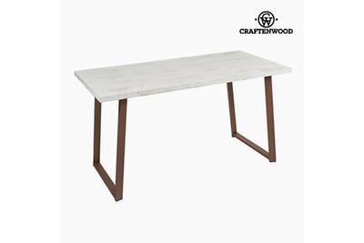 Bureau Bois De Pin Blanc 140 X 70 X 75 Cm By Craftenwood