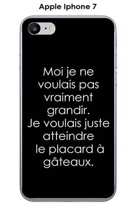 coque iphone 7 texte transparznt