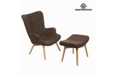Rocking Chair Craftenwood Chaise Avec Repose Pieds By Craftenwood