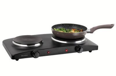 acheter en ligne a55a3 50a6a Domoclip doc168n plaque cuisson électrique noire double