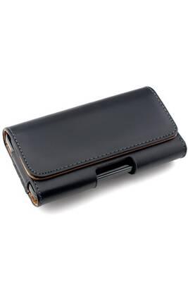 Coque smartphone Giscom Housse pour ceinture pour smartphones avec clip  ceinture - étui pour ceinture en cuir synthétique avec passant de ceinture  en noir ... 8b710f7d571