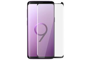 Protection écran smartphone Film samsung galaxy s9 verre trempé biseauté  protection antichocs contour noir Panzer Glass a33477ee71a4