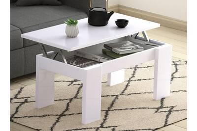 Table Basse Usinestreet Table Basse Gotham Avec Plateau Relevable Et