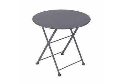 Table de jardin ronde en acier 55cm tom pouce - gris orage
