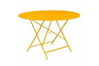 Table de jardin Fermob Table de jardin ronde pliante acier laqué ...