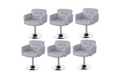 Ensemble table chaise Décoshop26 Lot de 6 fauteuils
