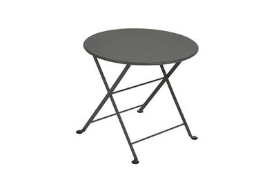 Mobilier de jardin enfant Fermob Table de jardin ronde en acier 55cm ...