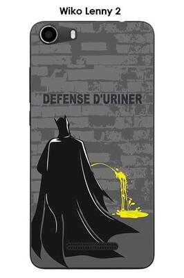 Coque wiko lenny 2 design batman