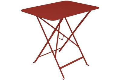 Table de jardin Fermob Table de jardin rectangulaire pliante acier ...
