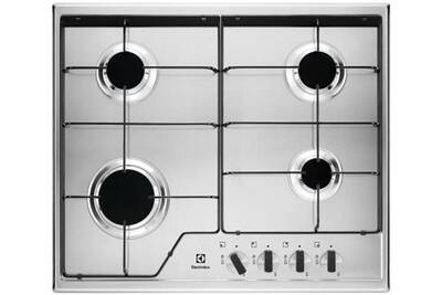 pas mal 274e9 5f462 Table de cuisson gaz 59.5cm 4 feux 7800w inox - electrolux - kgs6424x