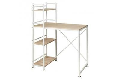 Lodz bureau classique métal et mdf blanc - l 90 cm