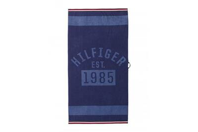 serviette de plage tommy hilfiger drap de plage denim couleur blue taille 90x180 darty. Black Bedroom Furniture Sets. Home Design Ideas