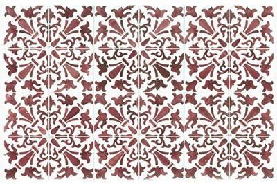 Tapis de cuisine 66x150cm rouge - mosaiko - 40023
