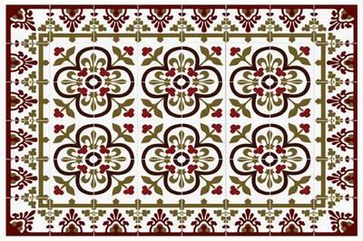 Tapis de cuisine Mosaiko Tapis de cuisine 66x150cm palais rouge ...