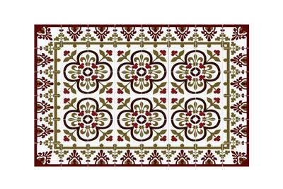 Tapis de cuisine 50x100cm rouge - mosaiko - 40190 tapis