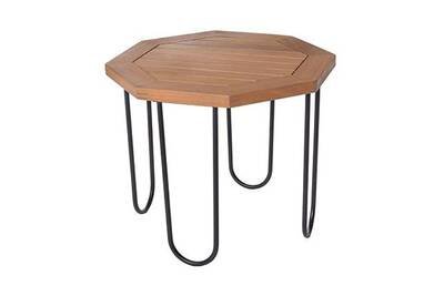 Salon de jardin Maisonetstyles Table de jardin hexagonal 45x45x36 cm ...