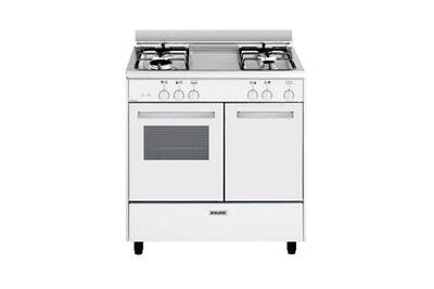 design intemporel d5463 2ca88 Cuisinière gaz 49l 4 feux blanc - glem - ga85pmwh