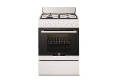 meilleure sélection 504e2 fb8dd Cuisinière gaz 51l 4 feux blanc - electrolux - ekg61102ow