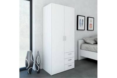 Armoire AUCUNE Space armoire chambre style contemporain - blanc ...