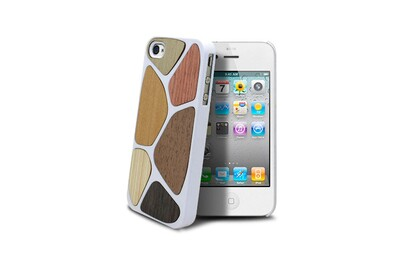 Coque bagheera patchwork blanche pour iphone 4/4s