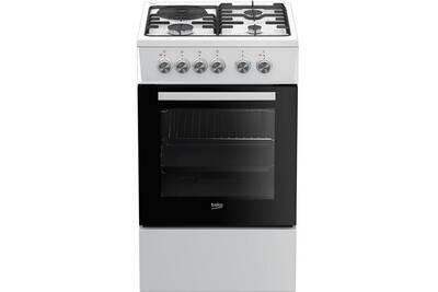 Photo de cuisiniere-mixte-beko-cuisiniere-mixte-60l-4-foyers-blanc-beko-fss53000dw