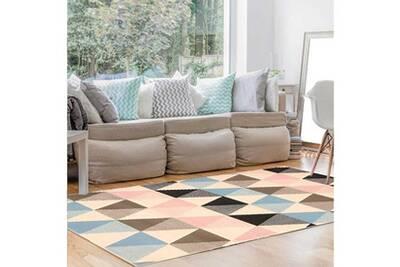 Tapis chambre scandinave bc pasteliangle multicolore 200 x 290 cm fabriqué  en europe tapis de salon moderne design par dezenco