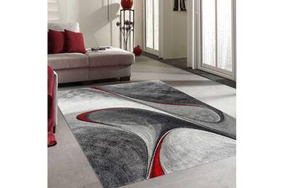 Tapis Rond Pour Le Salon Madila Rouge 100 X 100 Cm Tapis De Salon Moderne Design Par Unamourdetapis
