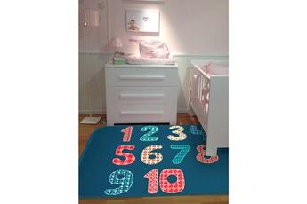Tapis enfant House Of Kids Ultra doux chiffres bleu 70 x 95 cm fabriqué en europe tapis pour enfants chambre par house of kids