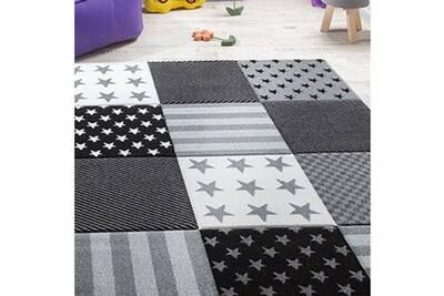 Tapis salon diamondkids 777 995 gris 120 x 170 cm tapis pour enfants  chambre par jadorel