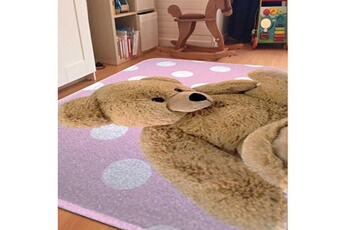 Tapis enfant House Of Kids Ultra doux teddy rose 70 x 95 cm fabriqué en europe tapis pour enfants chambre par house of kids