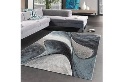 Tapis salon madila bleu 160 x 230 cm tapis de salon moderne design par  unamourdetapis