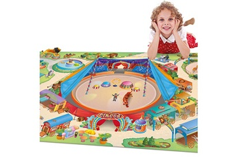 Tapis enfant House Of Kids Connecte cirque multicolore 100 x 150 cm fabriqué en europe tapis pour enfants chambre par house of kids