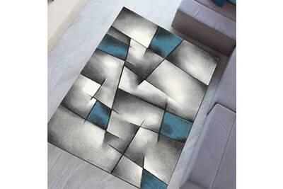 Tapis salon brillance 660 930 bleu 160 x 230 cm tapis de salon moderne  design par unamourdetapis