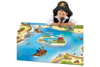 Tapis enfant House Of Kids Connecte pirate bleu 100 x 150 cm fabriqué en europe tapis pour enfants chambre par house of kids