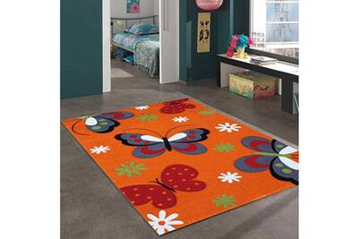 Tapis salon butterfly orange 120 x 170 cm tapis de salon moderne design par  jadorel