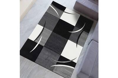 Tapis Salle A Manger Diavirgule Gris 200 X 290 Cm Tapis De Salon Moderne Design Par Dezenco