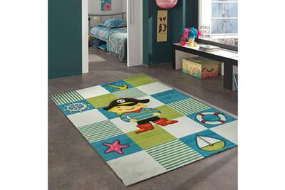 Tapis Enfant Unamourdetapis Tapis Salon Kids Pirate Beige 160 X 230