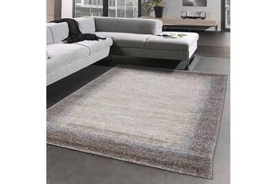 Tapis rond pour le salon elegant 03 marron 100 x 100 cm tapis de salon  moderne design par unamourdetapis