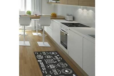 Tapis chambre cafe house gris 67 x 180 cm tapis cuisine par unamourdetapis