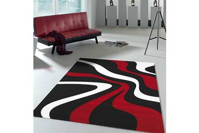 tapis de salon dezenco tapis pour couloir nodage rouge 80. Black Bedroom Furniture Sets. Home Design Ideas