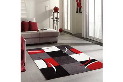 Tapis Rond Pour Le Salon Diamond Comma Rouge 160 X 160 Cm Tapis De Salon Moderne Design Par Jadorel