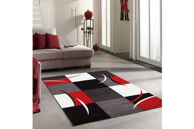 Tapis salon diamond comma rouge 160 x 230 cm tapis de salon moderne design  par jadorel