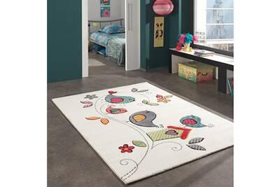 Tapis chambre kids oiseaux creme 60 x 110 cm tapis pour enfants chambre par  unamourdetapis
