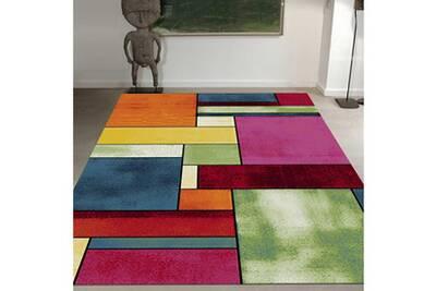 Tapis Rond Pour Le Salon Belo 11 Multicolore 100 X 100 Cm Tapis De Salon Moderne Design Par Unamourdetapis