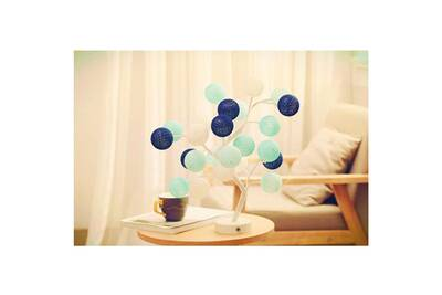 Coton De Boule Bleu Chevet Lampe Veilleuse QxBeoCrWd